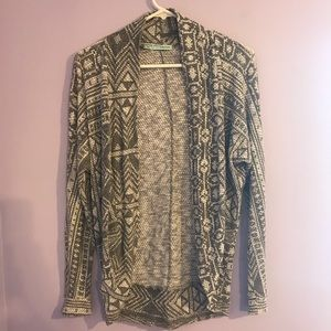 Women's Maurices Small Aztec Print cardigan